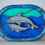 A dolphin window made as a Silent Auction item.
