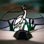 The egret lamp panel with the lights out.