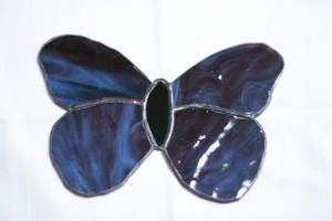 One of the easiest designs, I used this butterfly as a demo piece with my Best Buddies team as we designed a panel for the Art of Friendship fundraiser.  They each got to make their own butterfly to take home and got a sense for how to make stained glass.