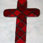 The cross in red mosaic to match a friend&#039;s kitchen dcor.